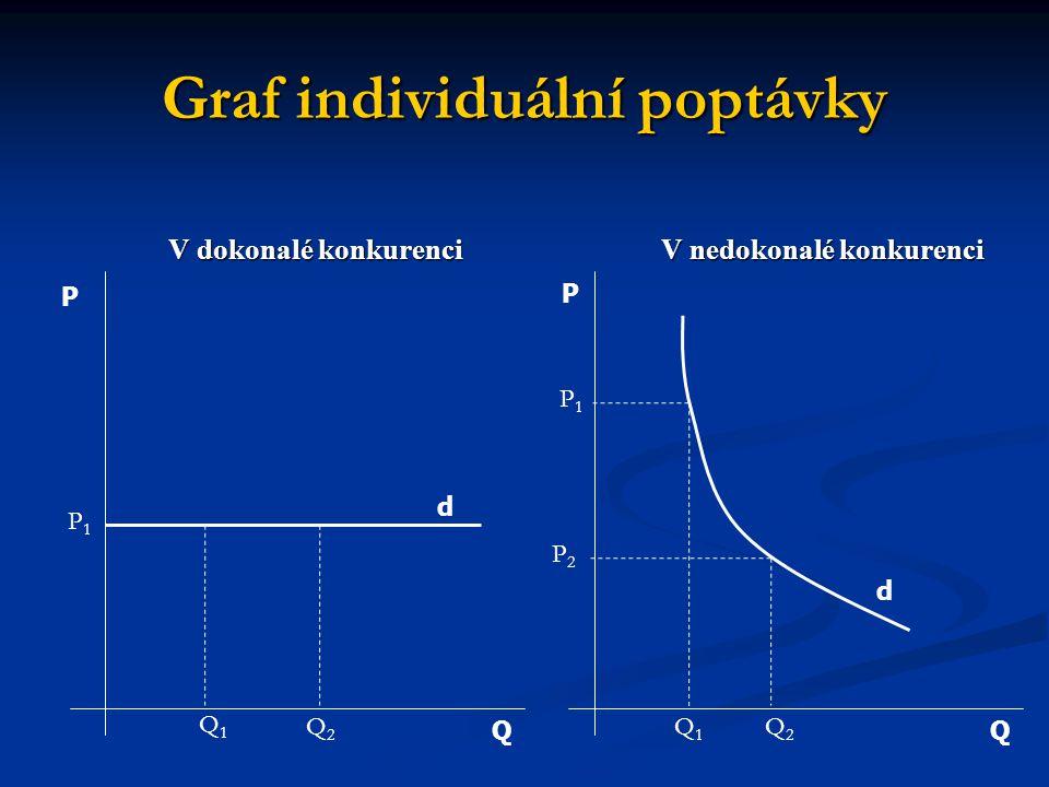 Graf individuální poptávky