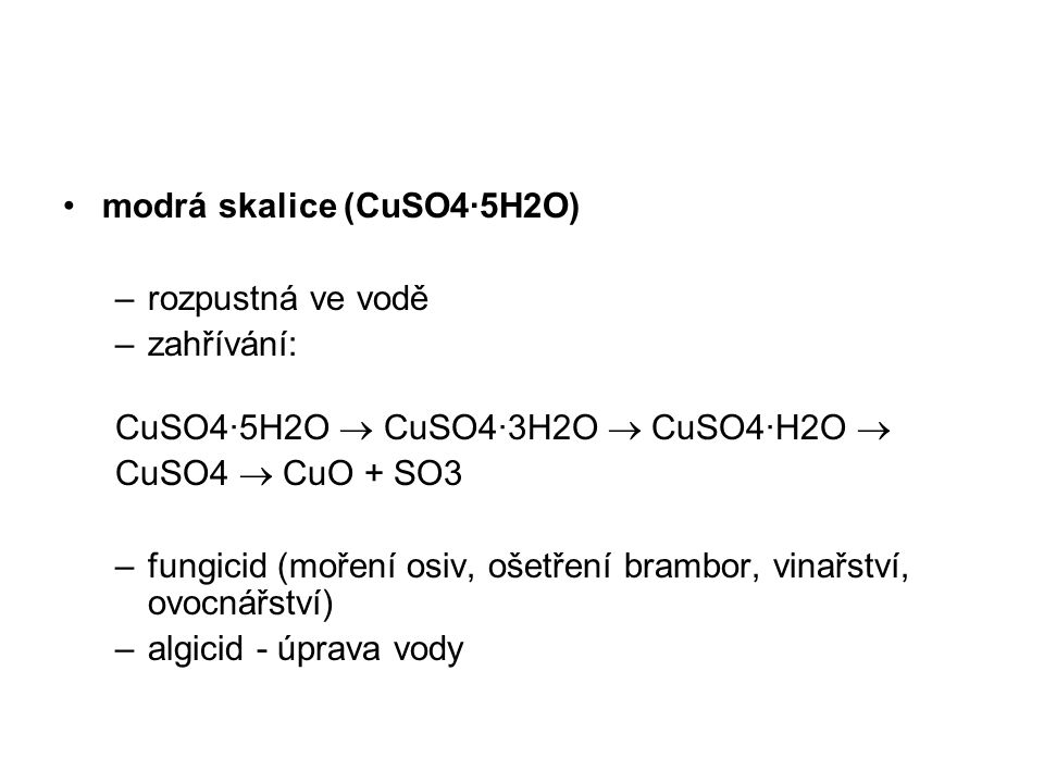 modrá skalice (CuSO4·5H2O)
