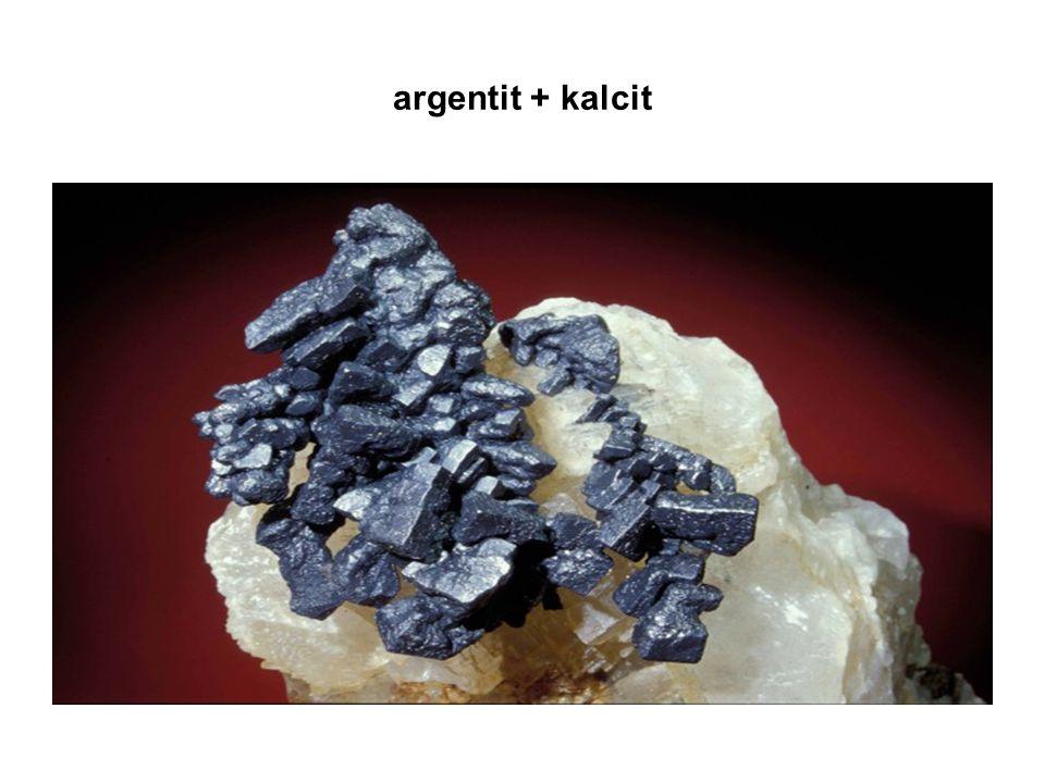 argentit + kalcit