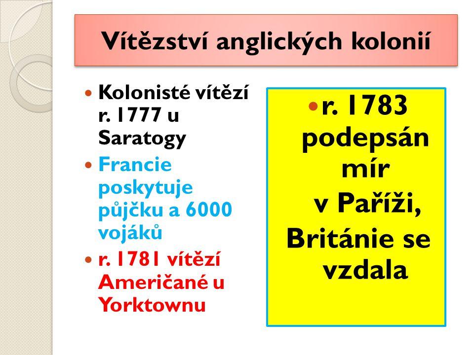 Vítězství anglických kolonií