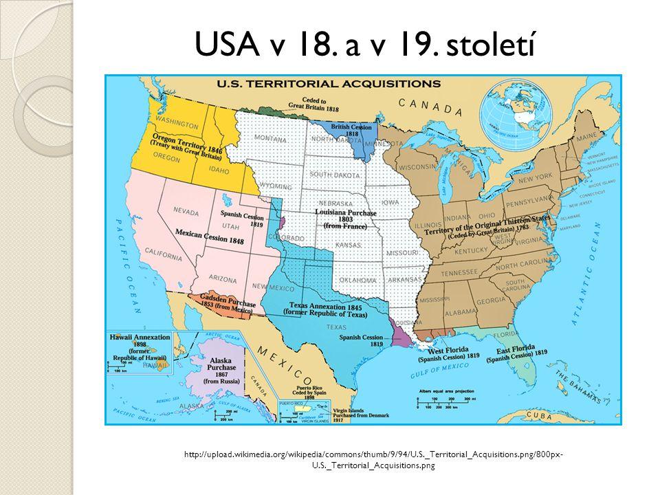 USA v 18. a v 19. století