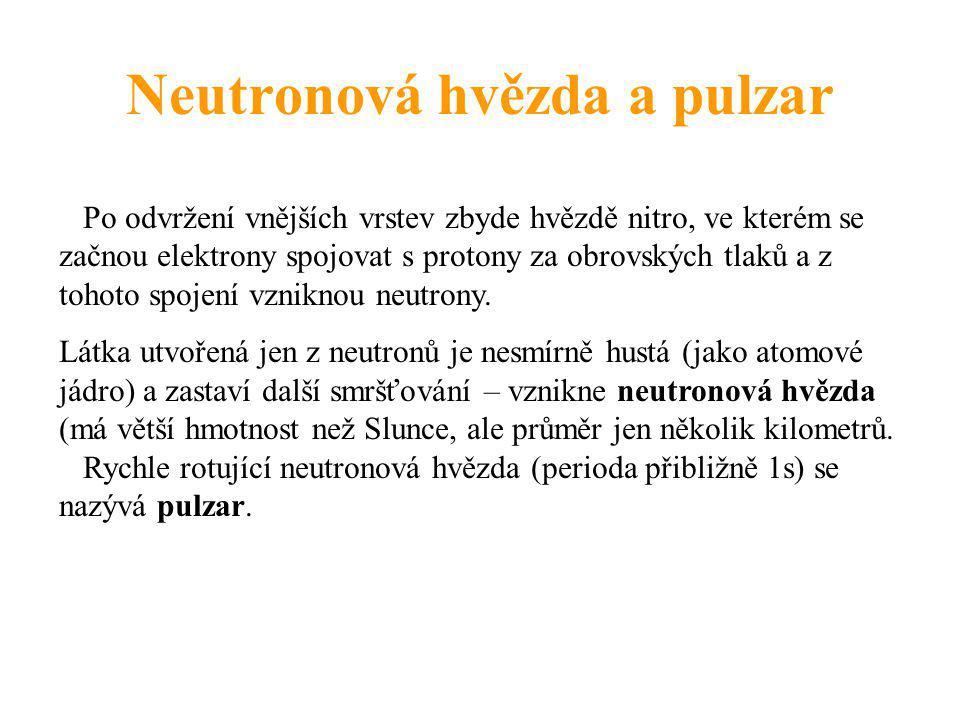 Neutronová hvězda a pulzar