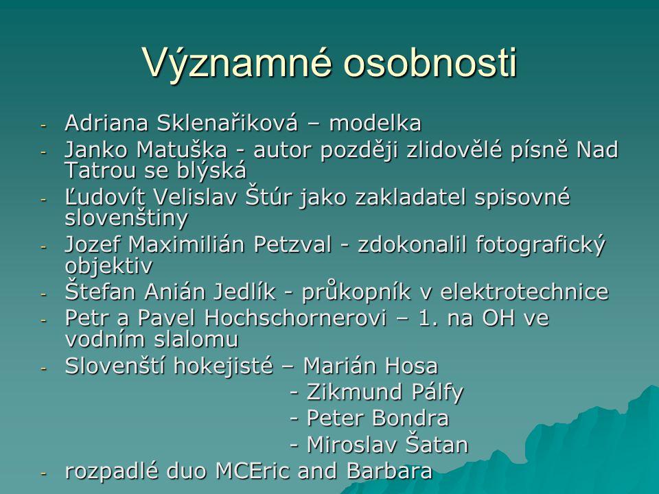 Významné osobnosti Adriana Sklenařiková – modelka
