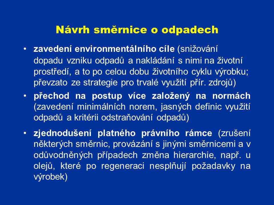 Návrh směrnice o odpadech