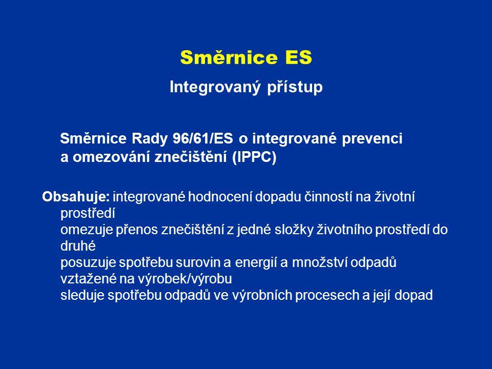 Směrnice ES Integrovaný přístup