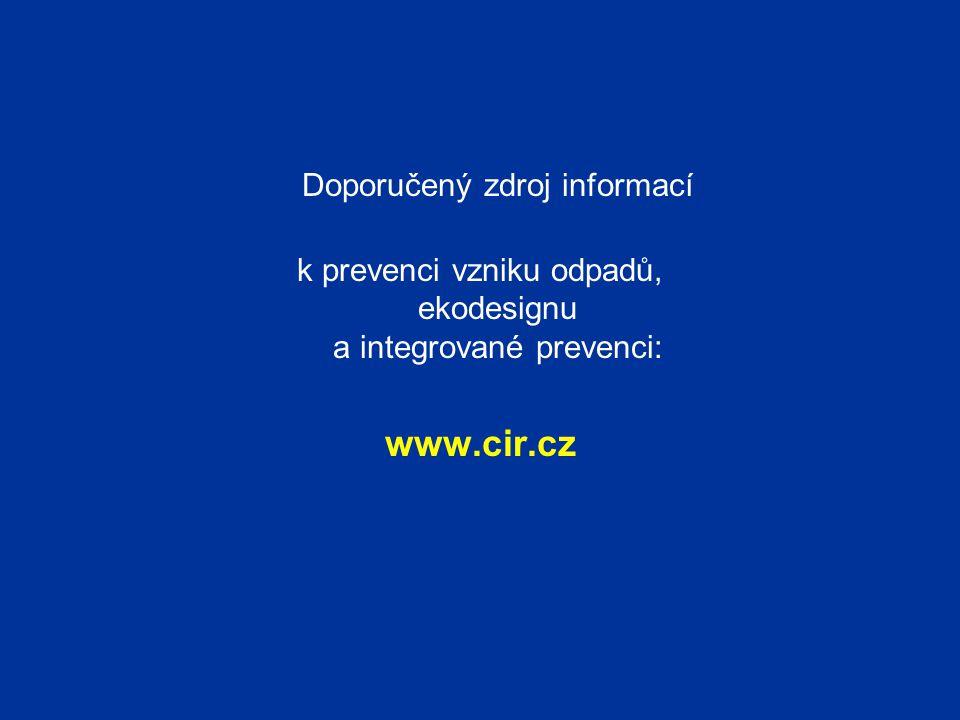 www.cir.cz Doporučený zdroj informací
