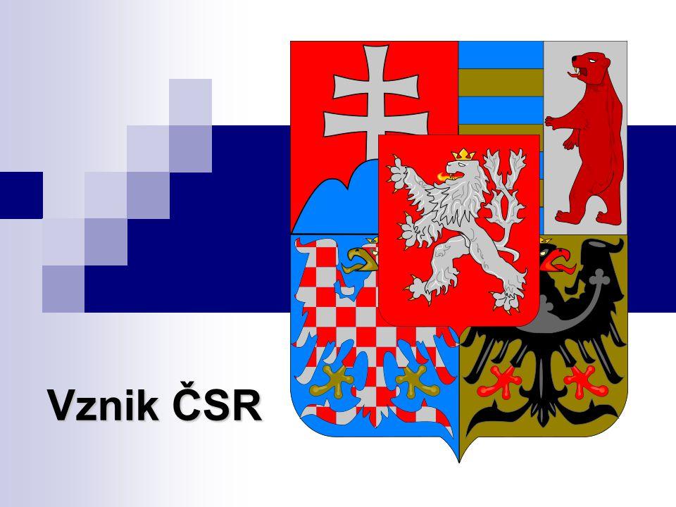 Vznik ČSR