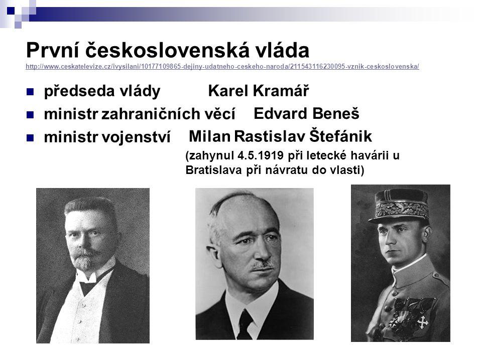 První československá vláda http://www. ceskatelevize