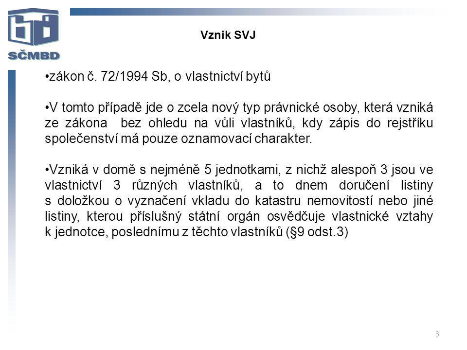 zákon č. 72/1994 Sb, o vlastnictví bytů