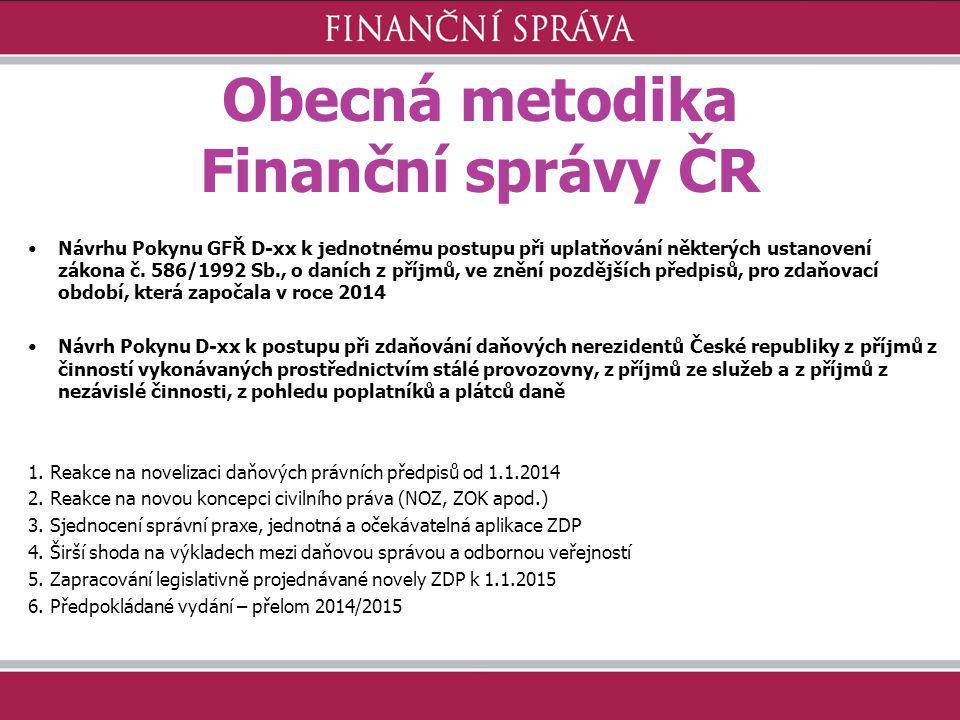 Obecná metodika Finanční správy ČR