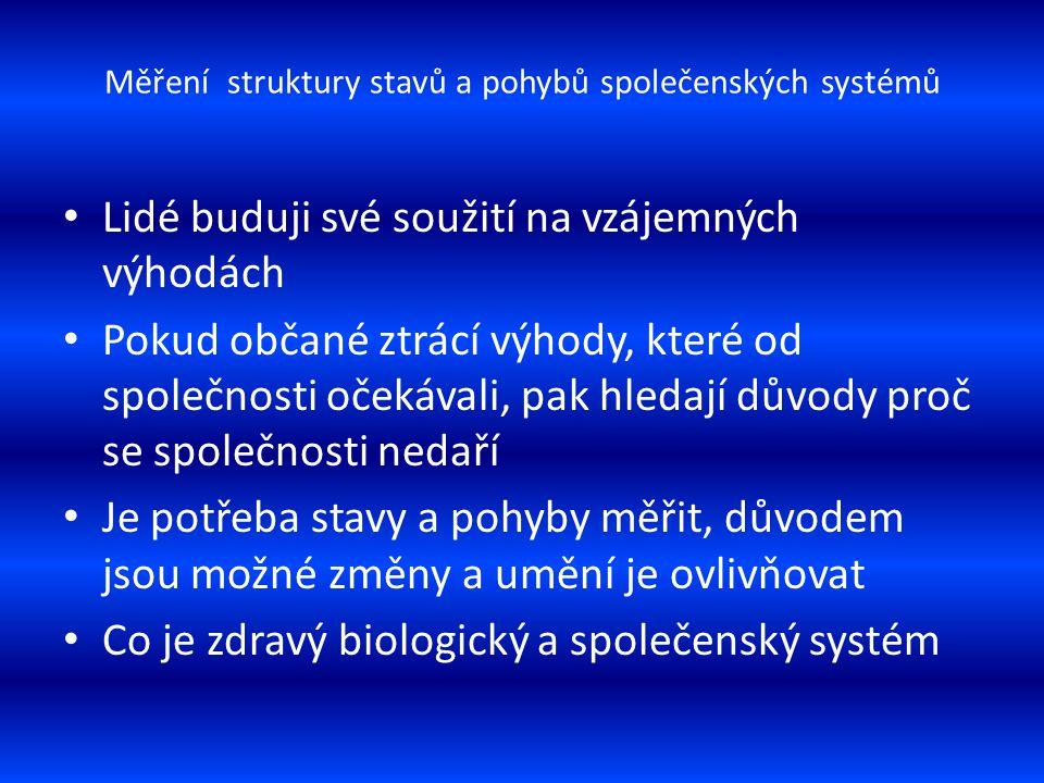 Měření struktury stavů a pohybů společenských systémů