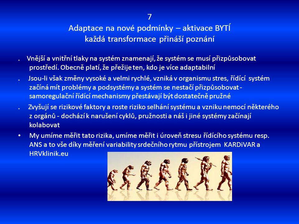 7 Adaptace na nové podmínky – aktivace BYTÍ každá transformace přináší poznání