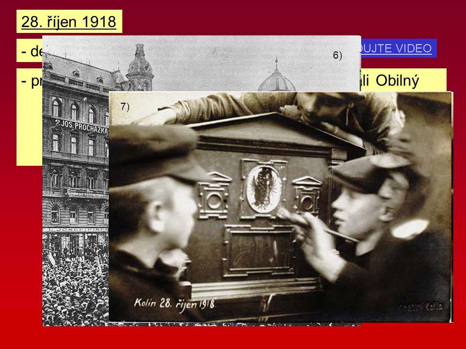 - den vzniku samostatného Československa