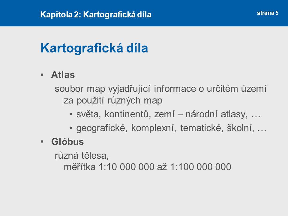 Kartografická díla Atlas