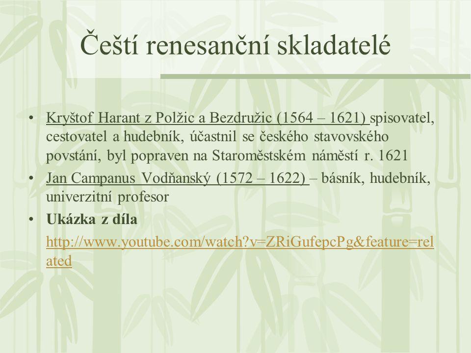 Čeští renesanční skladatelé