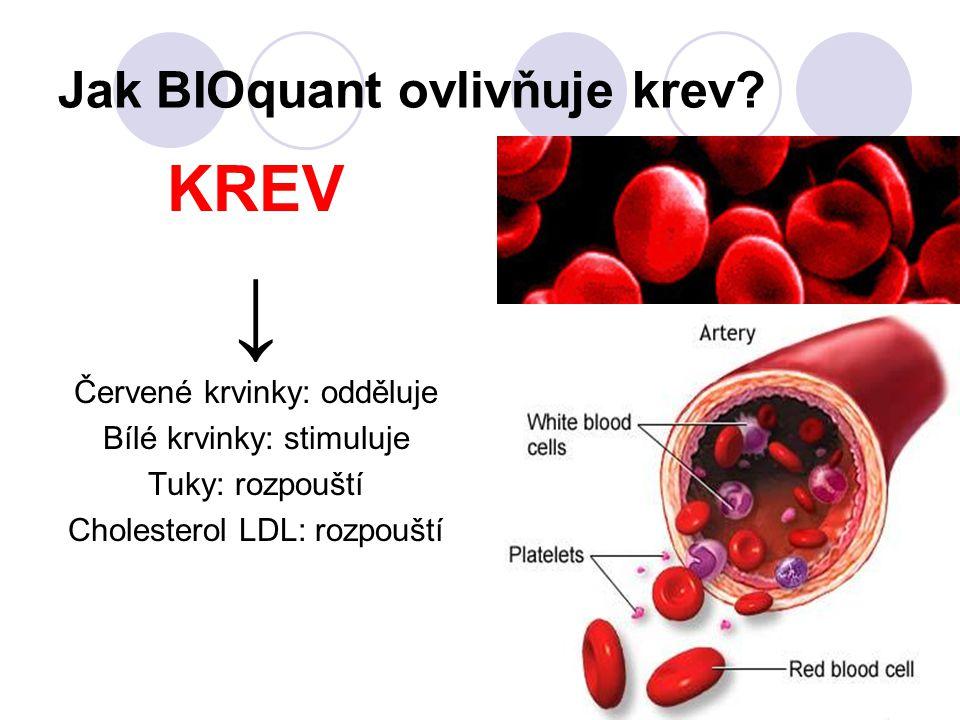 Jak BIOquant ovlivňuje krev