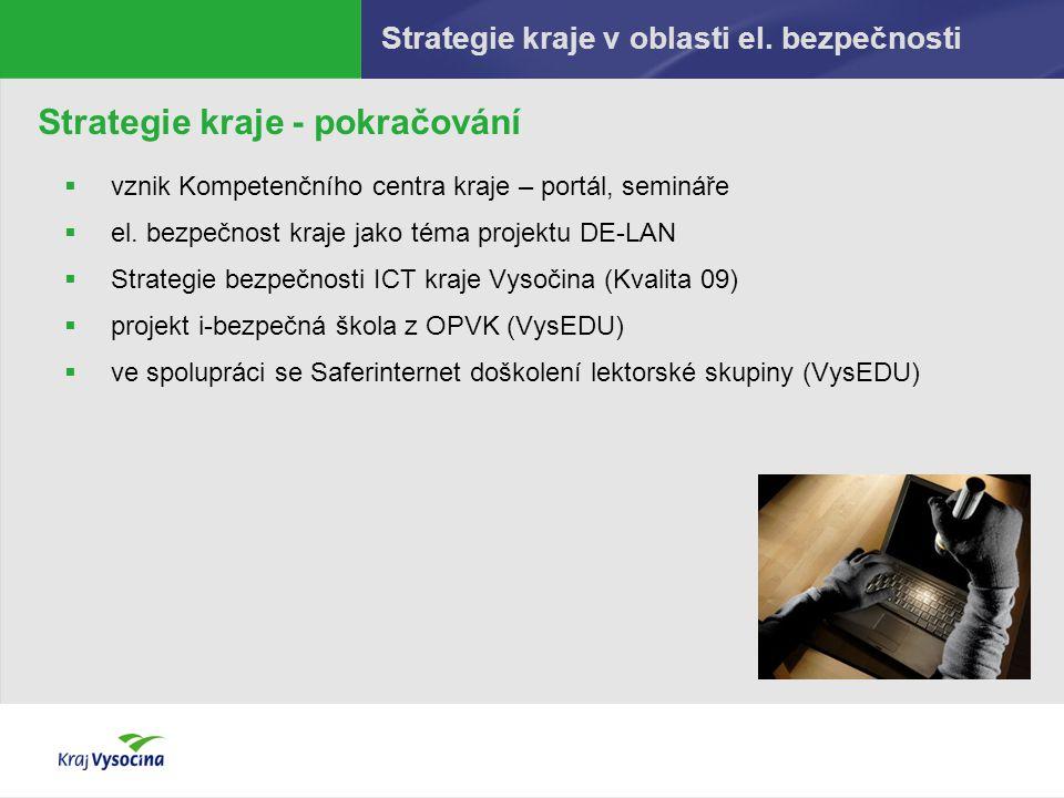 Strategie kraje v oblasti el. bezpečnosti