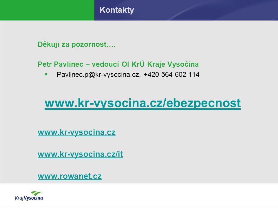 www.kr-vysocina.cz/ebezpecnost Kontakty www.kr-vysocina.cz