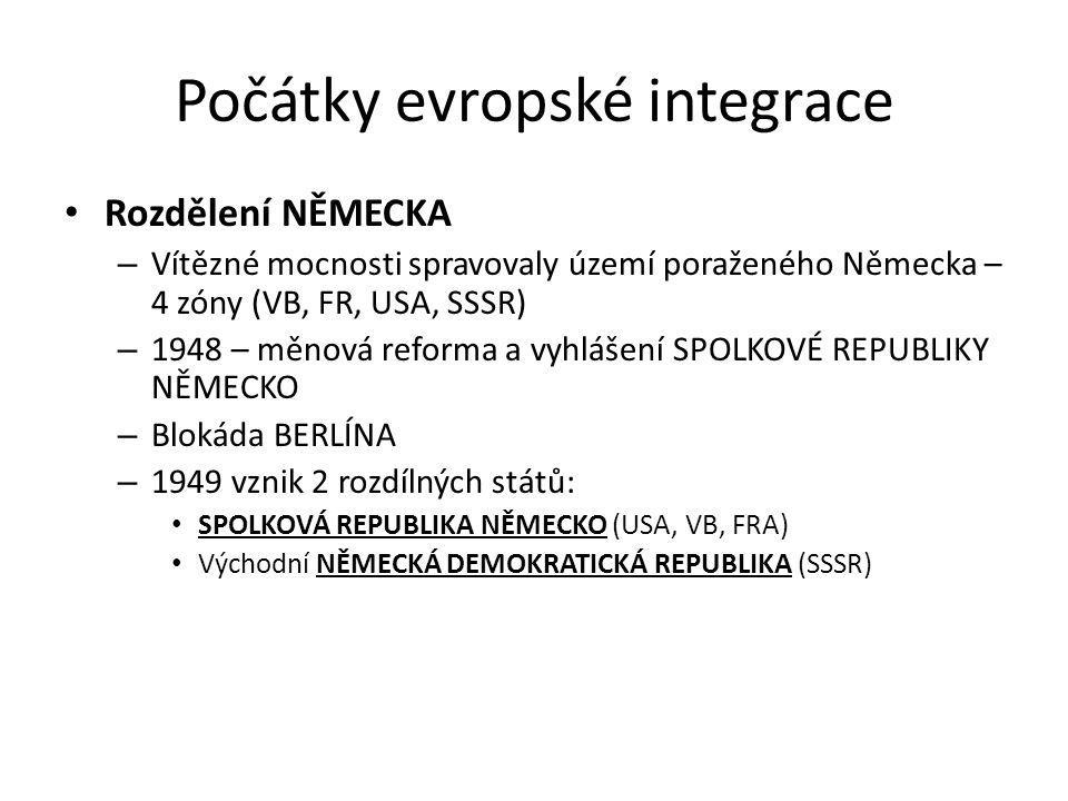 Počátky evropské integrace