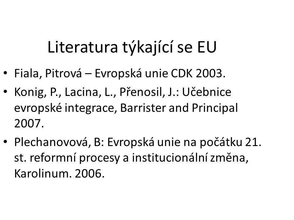 Literatura týkající se EU