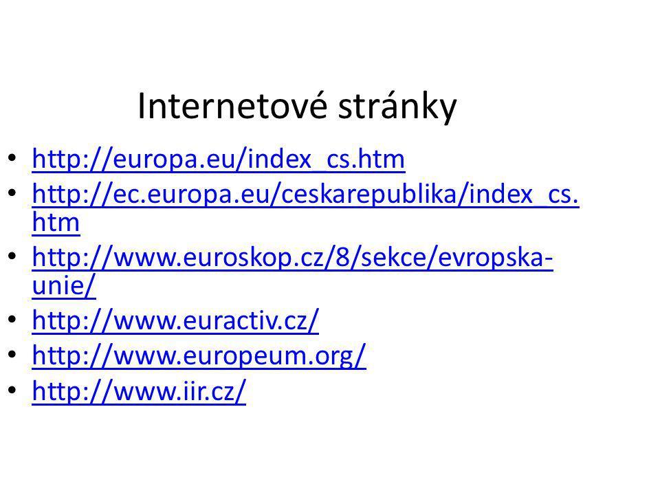 Internetové stránky http://europa.eu/index_cs.htm