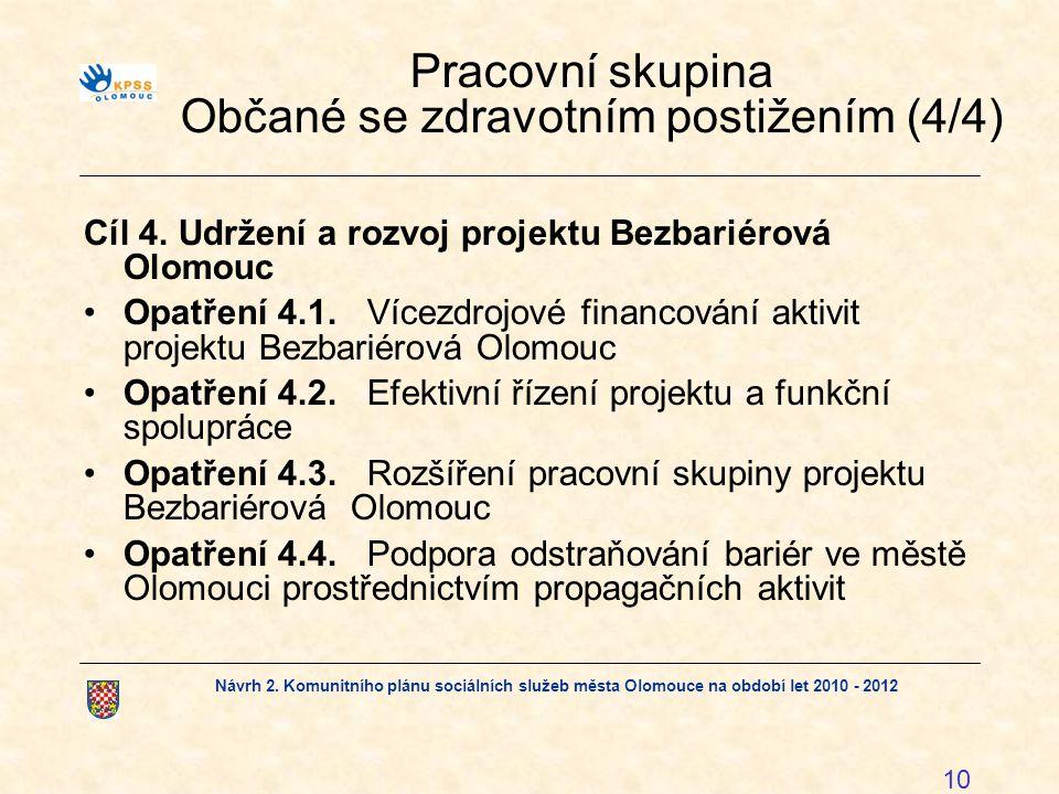 Pracovní skupina Občané se zdravotním postižením (4/4)