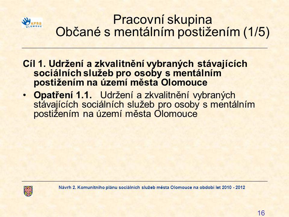 Pracovní skupina Občané s mentálním postižením (1/5)