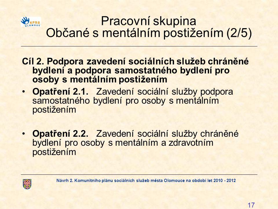 Pracovní skupina Občané s mentálním postižením (2/5)