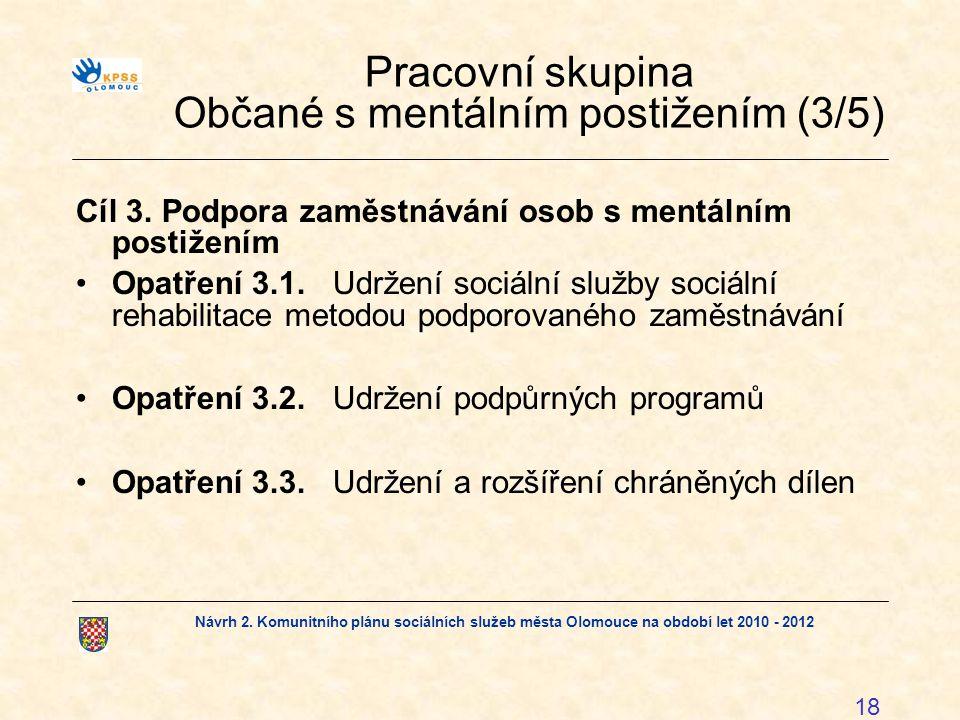 Pracovní skupina Občané s mentálním postižením (3/5)