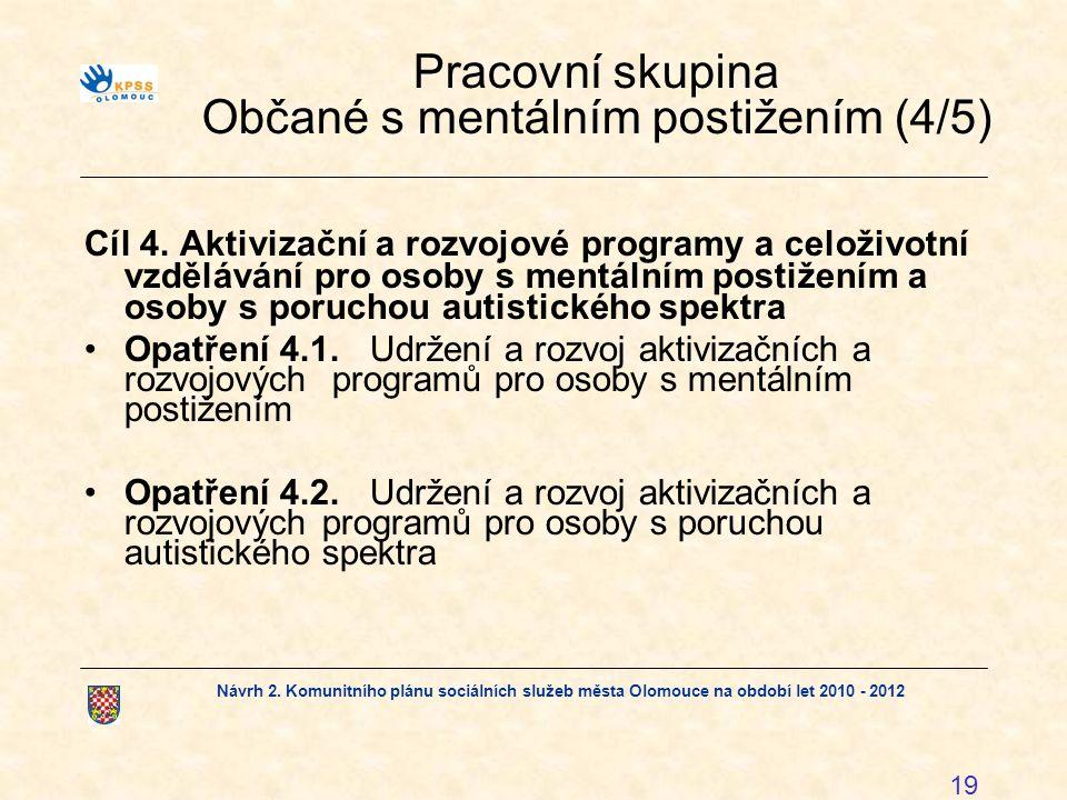 Pracovní skupina Občané s mentálním postižením (4/5)