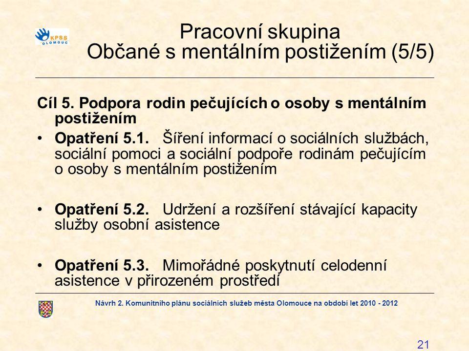 Pracovní skupina Občané s mentálním postižením (5/5)