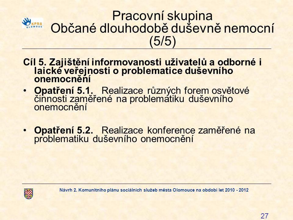 Pracovní skupina Občané dlouhodobě duševně nemocní (5/5)