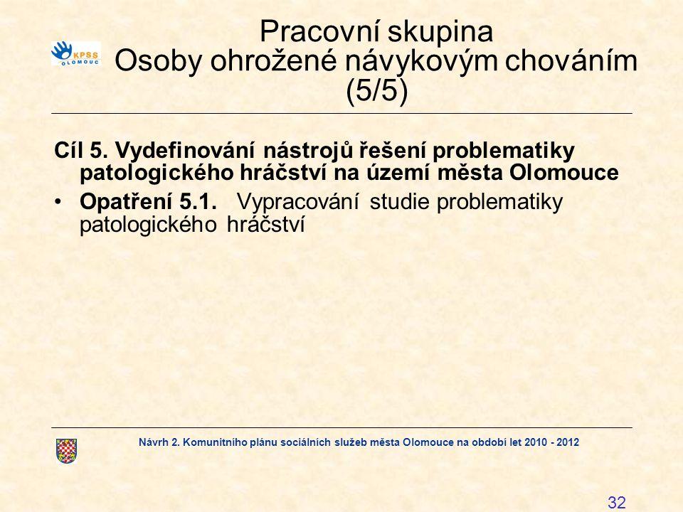 Pracovní skupina Osoby ohrožené návykovým chováním (5/5)
