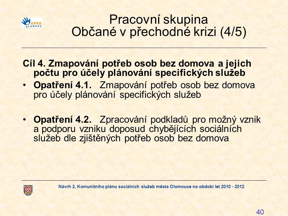 Pracovní skupina Občané v přechodné krizi (4/5)