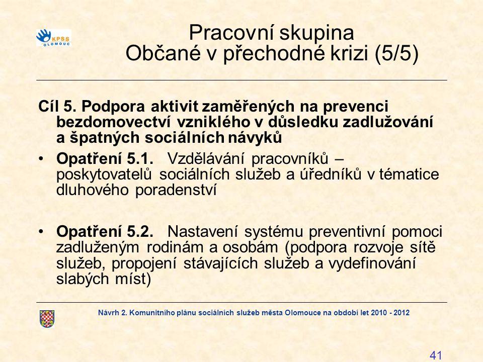 Pracovní skupina Občané v přechodné krizi (5/5)