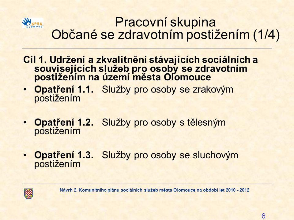Pracovní skupina Občané se zdravotním postižením (1/4)
