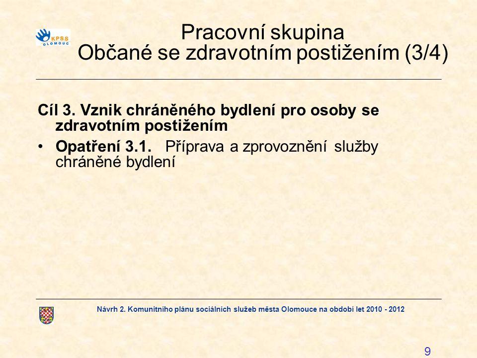 Pracovní skupina Občané se zdravotním postižením (3/4)