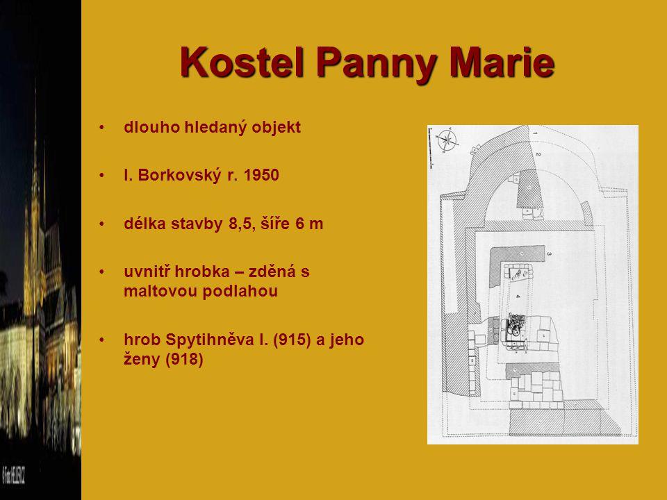Kostel Panny Marie dlouho hledaný objekt I. Borkovský r. 1950