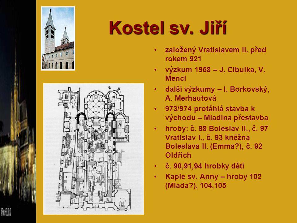 Kostel sv. Jiří založený Vratislavem II. před rokem 921