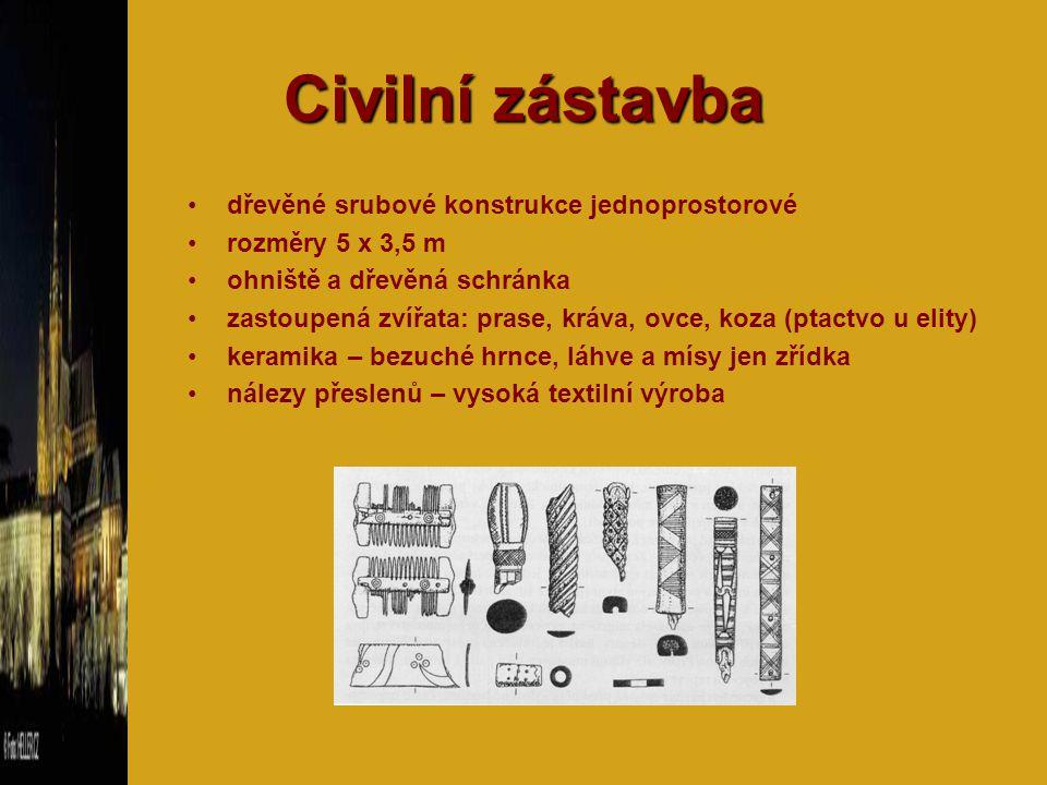 Civilní zástavba dřevěné srubové konstrukce jednoprostorové