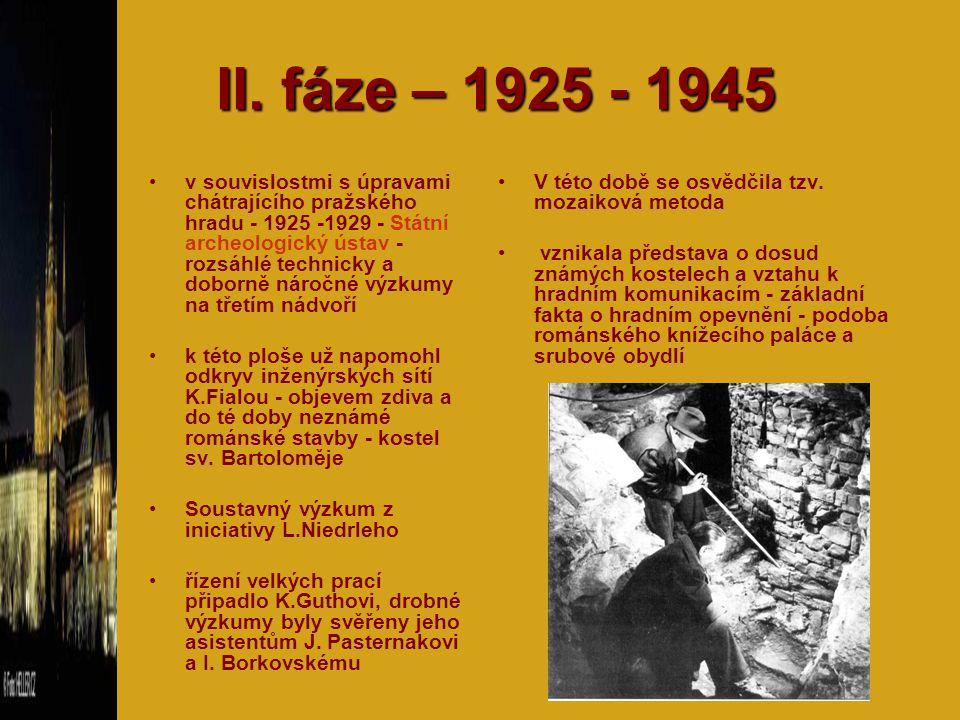 II. fáze – 1925 - 1945