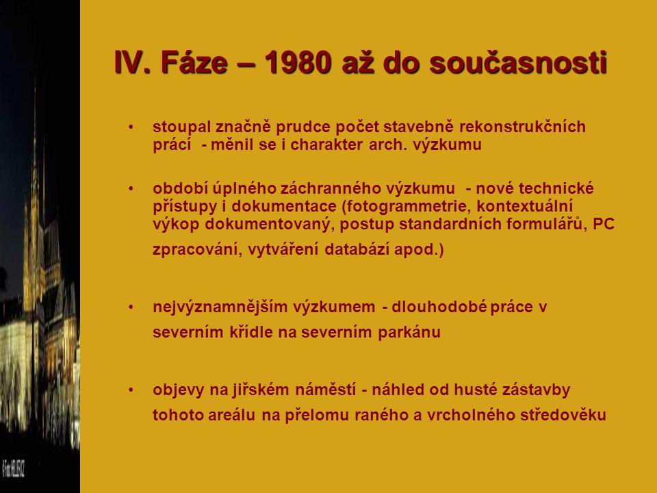 IV. Fáze – 1980 až do současnosti