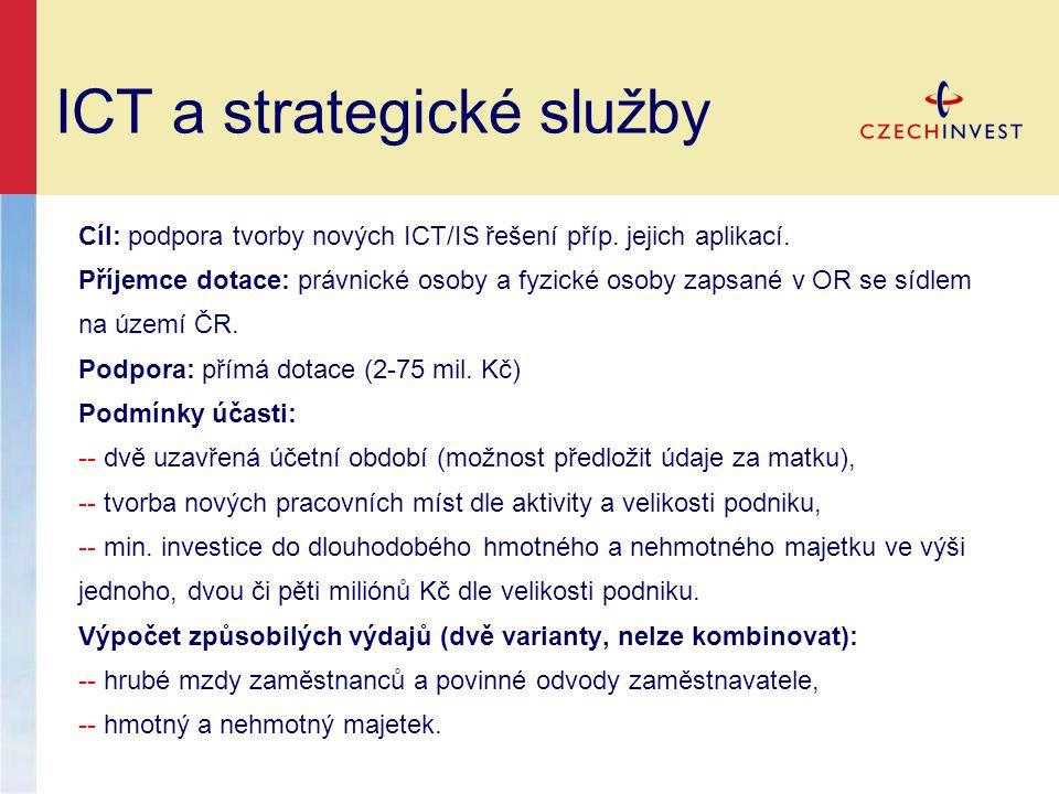 ICT a strategické služby
