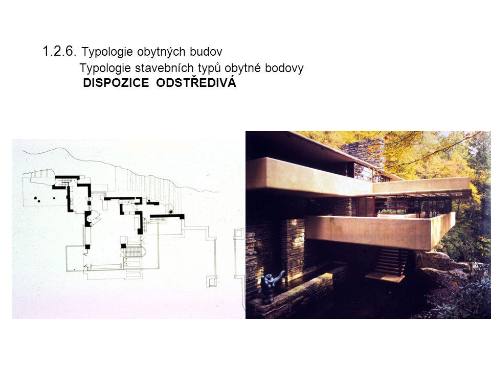 1.2.6. Typologie obytných budov Typologie stavebních typů obytné bodovy DISPOZICE ODSTŘEDIVÁ