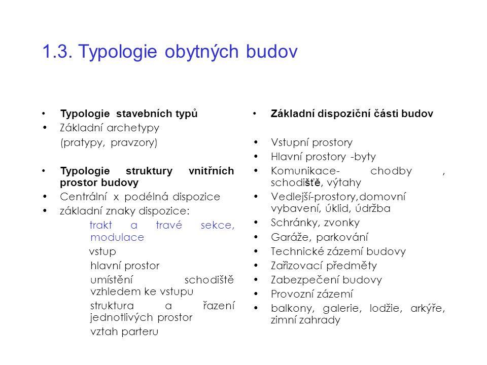 1.3. Typologie obytných budov