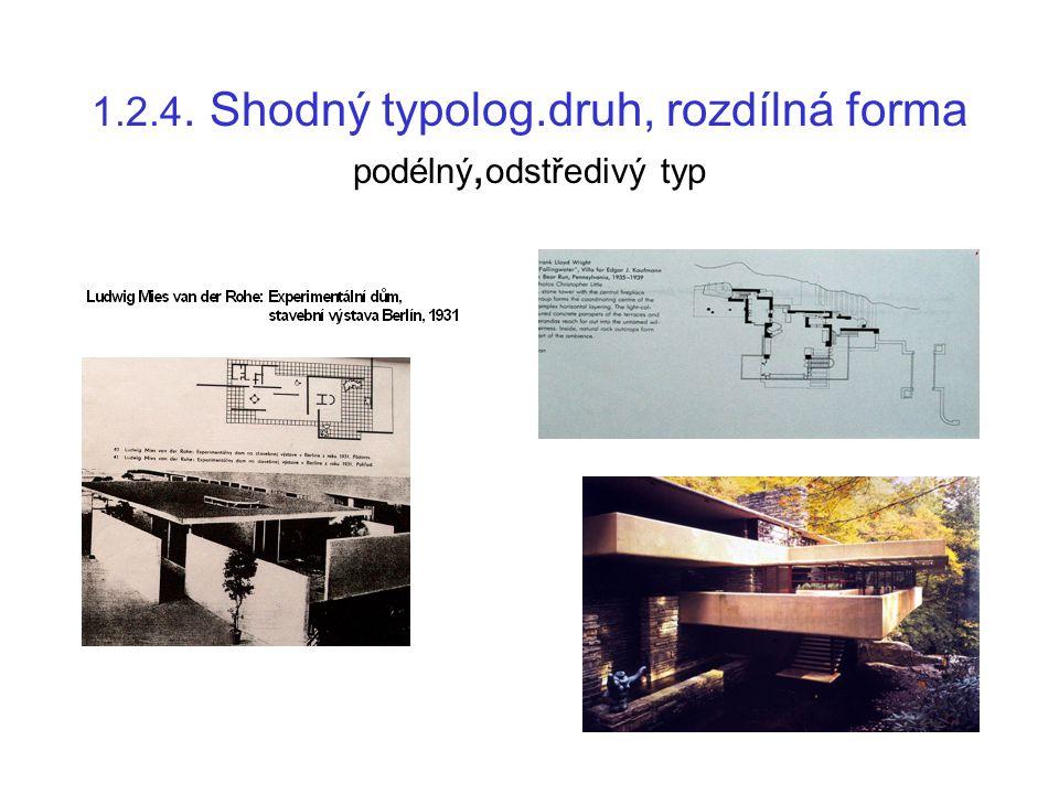 1.2.4. Shodný typolog.druh, rozdílná forma podélný,odstředivý typ