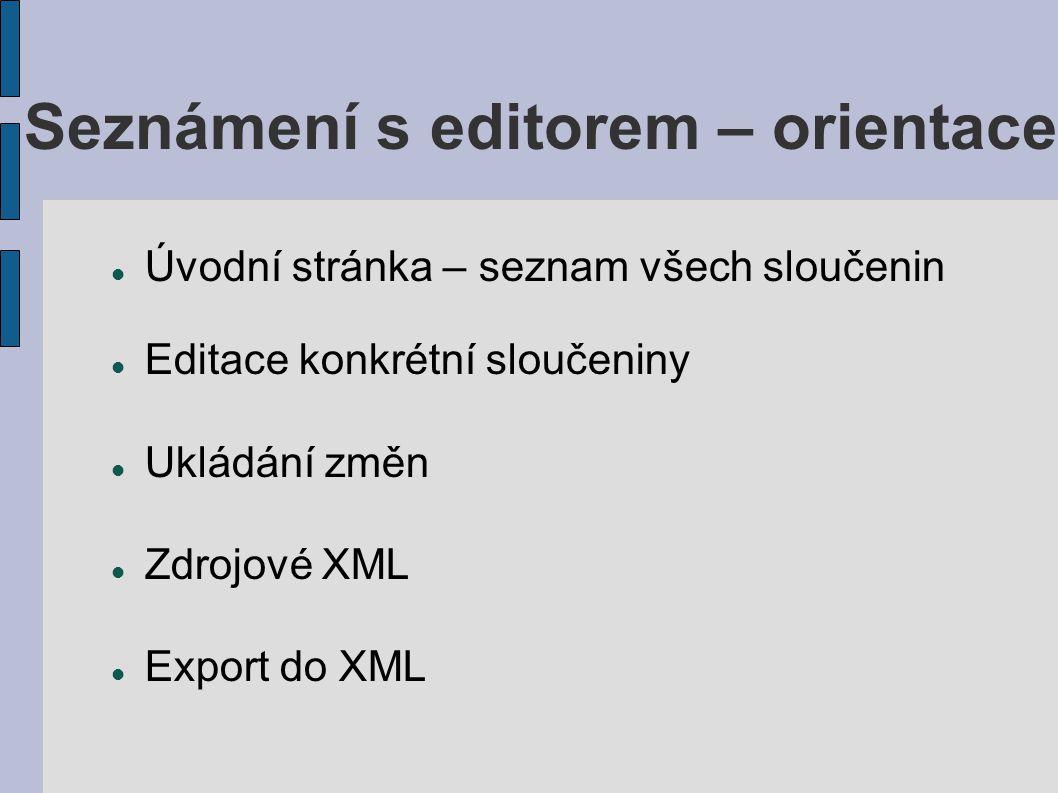 Seznámení s editorem – orientace