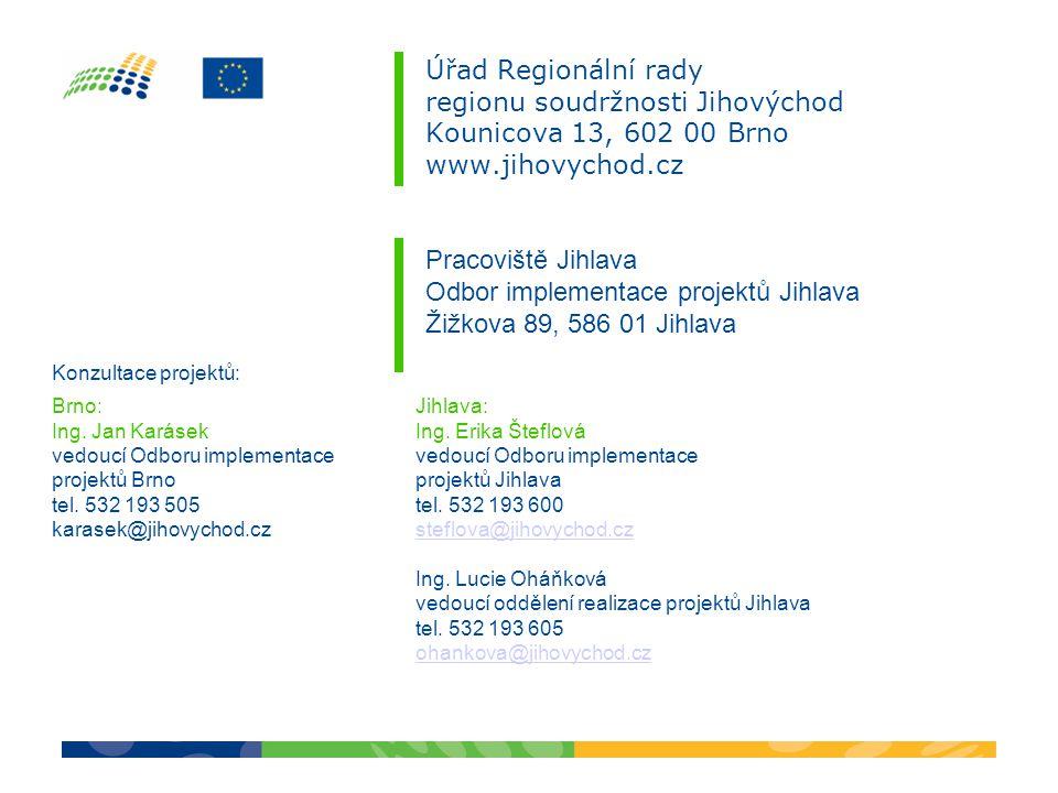 Odbor implementace projektů Jihlava Žižkova 89, 586 01 Jihlava