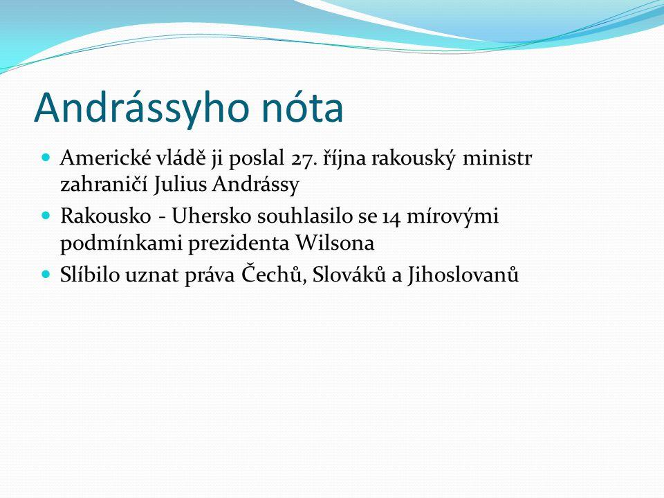 Andrássyho nóta Americké vládě ji poslal 27. října rakouský ministr zahraničí Julius Andrássy.