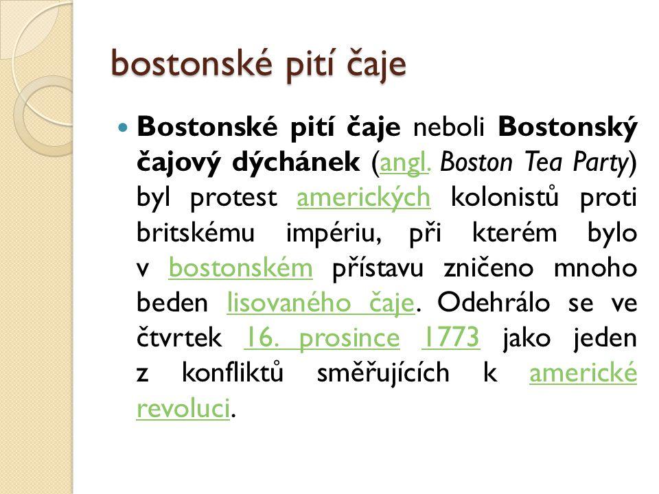 bostonské pití čaje